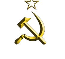 RUSSIA, USSR; COMMUNIST; Hammer & sickle by TOM HILL - Designer