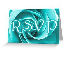 RSVP blue rose Greeting Card
