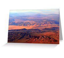 Desert Wind and Dusty Dry Greeting Card