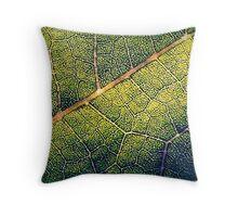 The Road Through Leafy Glade Throw Pillow