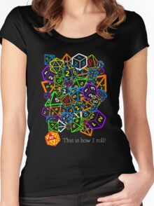 D&D (Dungeons and Dragons) - This is how I roll! Women's Fitted Scoop T-Shirt