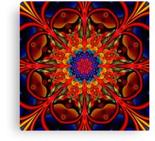 The blooming Kaleidoscope, fractal artwork Canvas Print