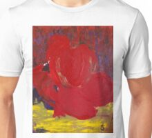Abstract Red Rose in Nature Unisex T-Shirt
