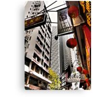the streets of SoHo Hong Kong Canvas Print
