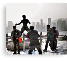 everyone wants to be Bruce Lee in Hong Kong  Canvas Print