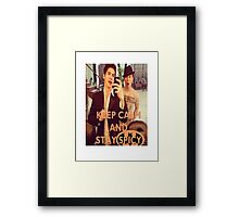 Keep Calm And Stay Spicy! Framed Print