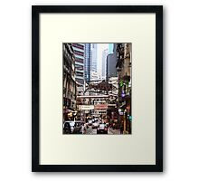 a flying fish in Soho Hong Kong Framed Print