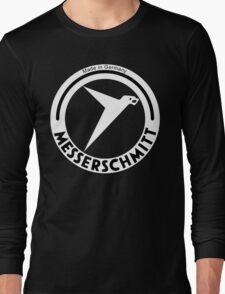 Messerschmitt Aircraft Company Logo (White) Long Sleeve T-Shirt