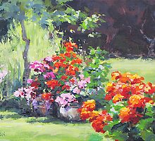 Geraniums by Karen Ilari