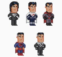 Superman Pixel Figure Sticker Set 2 by Pixelfigures