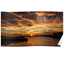 Sun is setting in London Poster