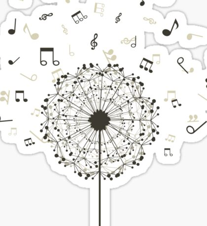 Music a dandelion Sticker