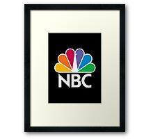 NBC Logo - White Framed Print