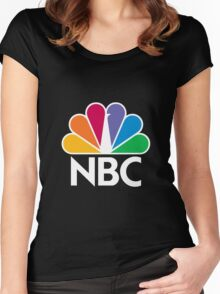 NBC Logo - White Women's Fitted Scoop T-Shirt