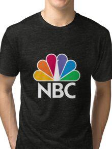 NBC Logo - White Tri-blend T-Shirt