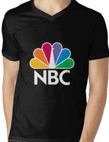 NBC Logo - White Mens V-Neck T-Shirt