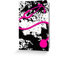 pink stethoscope Greeting Card