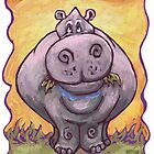 Animal Parade Hippopotamus by Traci VanWagoner