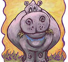 Animal Parade Hippopotamus by Traci VanWagoner