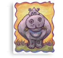 Animal Parade Hippopotamus Canvas Print