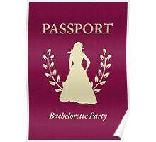 Bachelorette Party Passport Invitation Poster
