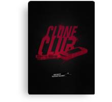 Clone Club logo Canvas Print
