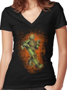 Michelangelo Women's Fitted V-Neck T-Shirt