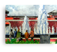 People Love To Gather Canvas Print