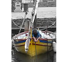 'The Harbour Boat' - Collioure, France Photographic Print