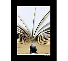 Open Book Photographic Print