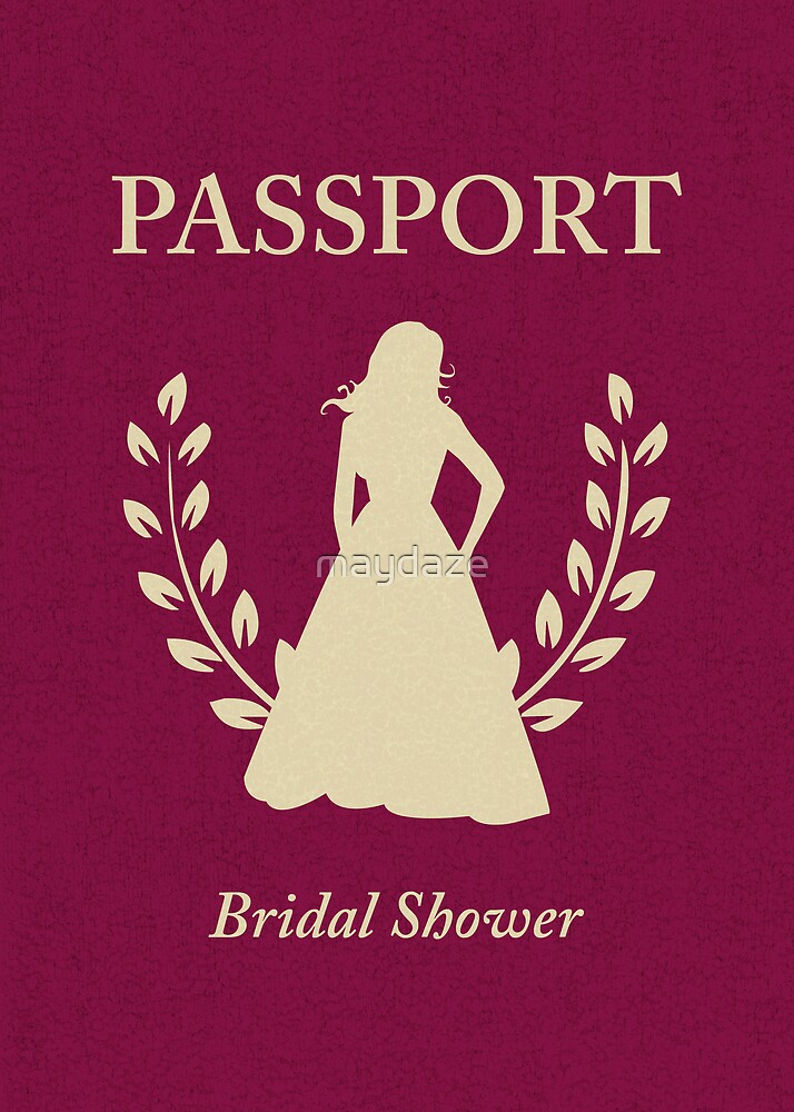 Bridal Shower Passport Invitation by maydaze