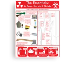 The Essentials: A Basic Survival Guide Canvas Print