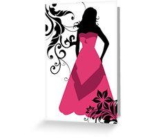 bridesmaid in pink Greeting Card