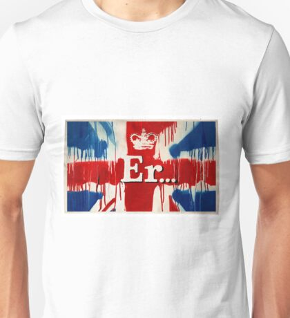 """Er..."" by Banksy  Unisex T-Shirt"