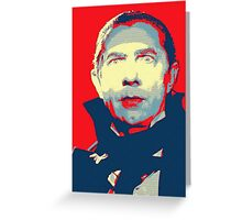 Bela Lugosi in Mark of the Vampire Greeting Card