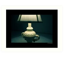 White Vintage Table Lamp  Art Print