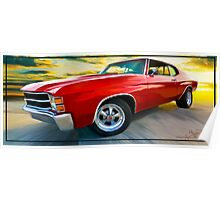 "'71 Chevelle - ""Busting in on the Scene"" Poster"
