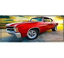 "'71 Chevelle - ""Busting in on the Scene"" Photographic Print"