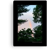 Forest Rainbow - Middle Island, New York  Canvas Print