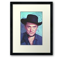 Kirk Douglas in Man Without a Star Framed Print
