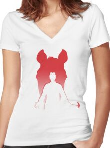 Horrible is Rising Women's Fitted V-Neck T-Shirt