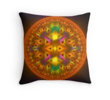 Groovey Hubcap Throw Pillow