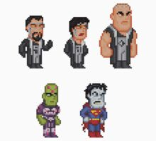 Superman Villains Pixel Figure Sticker Set 1 by Pixelfigures