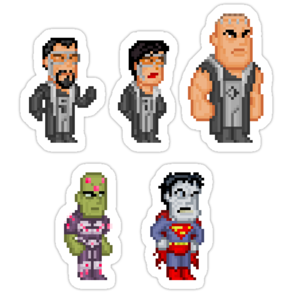 Superman Villains Pixel Figure Sticker Set 1 by Pixelfigures