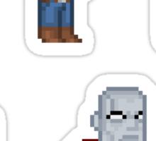 Superman Allies Pixel Figure Sticker Set Sticker