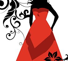 maid of honor in red by maydaze