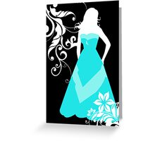 bridesmaid blue dress Greeting Card
