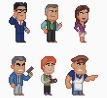 Superman Allies Pixel Figure Sticker Set 2 by Pixelfigures