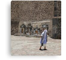 Walking To Church Canvas Print