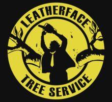 Leatherface Tree Service Kids Tee